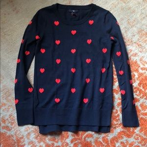 Gap Navy Blue Hearts Sweater